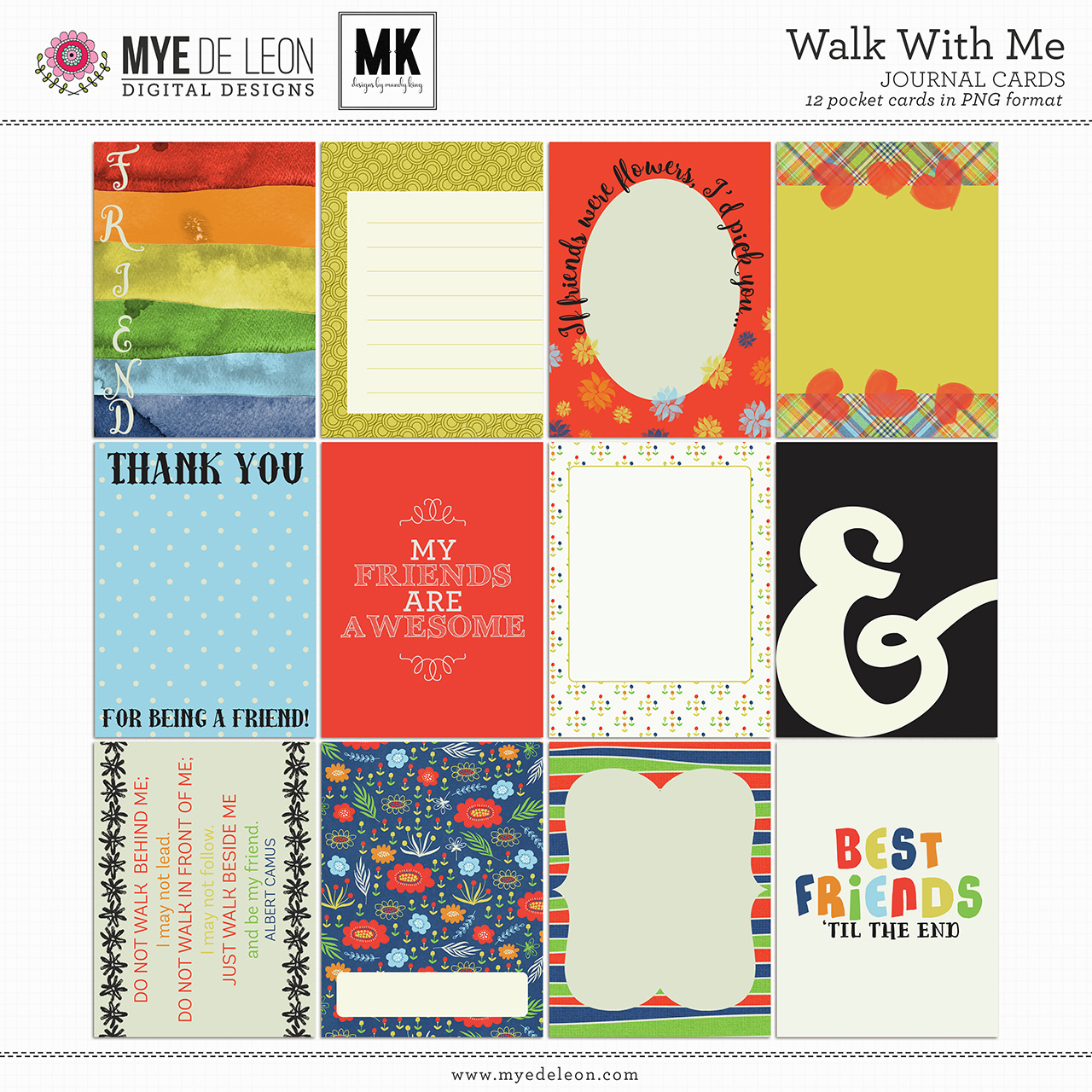 Walk With Me   Journal Cards