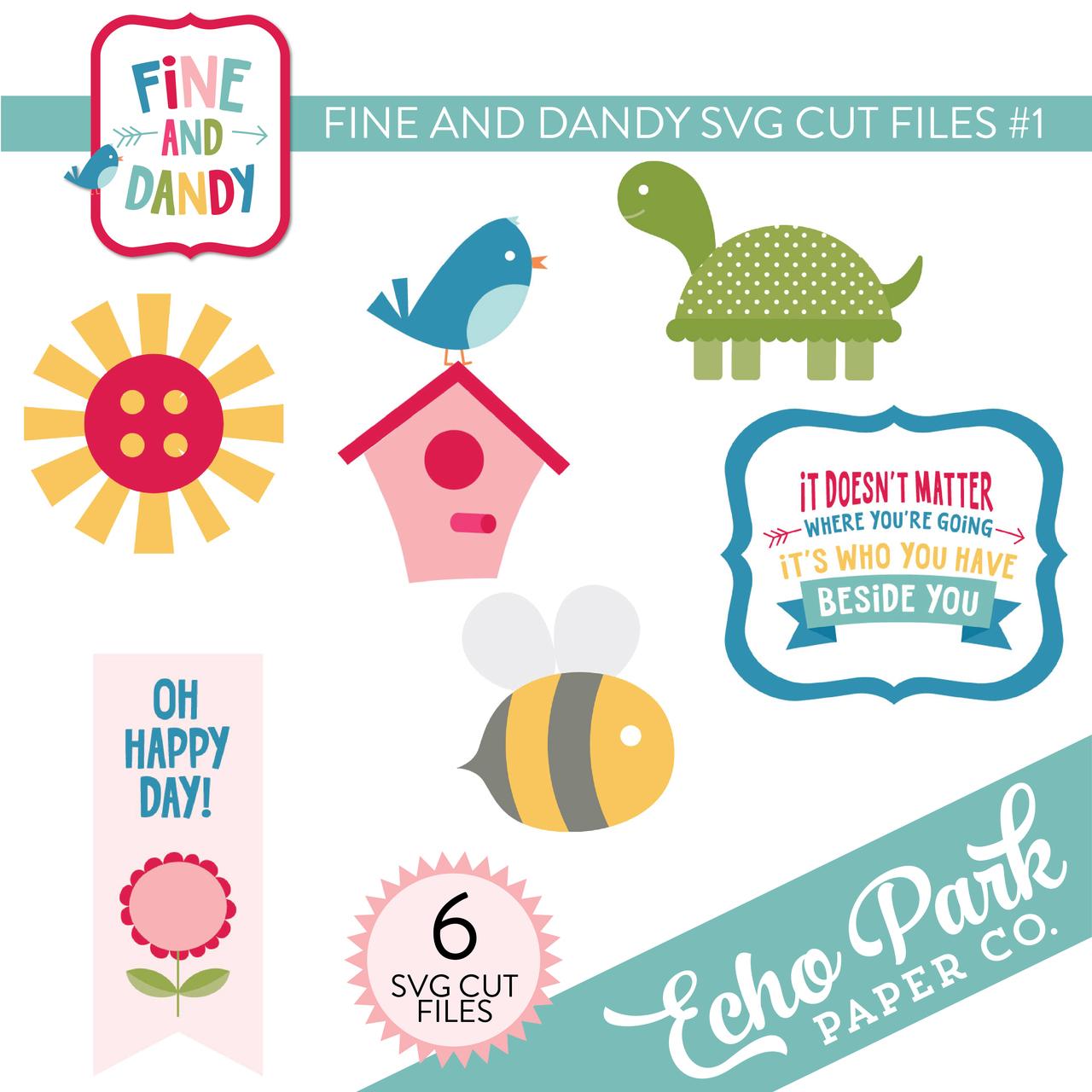 Fine and Dandy SVG Cut Files #1