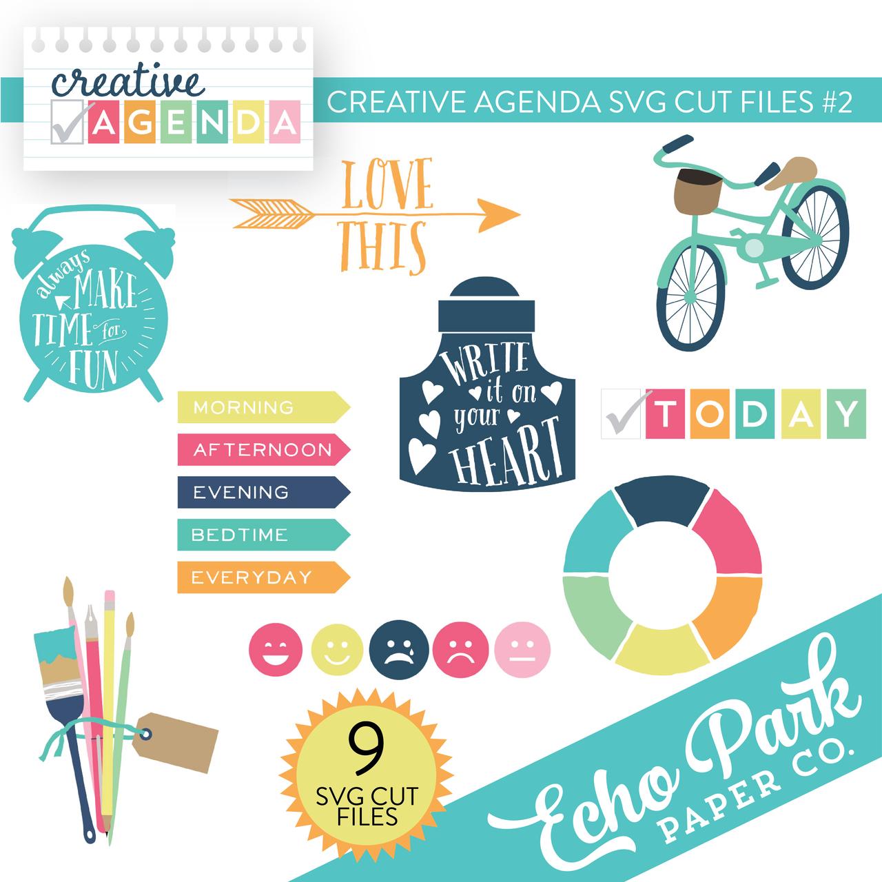 Creative Agenda SVG Cut Files #1