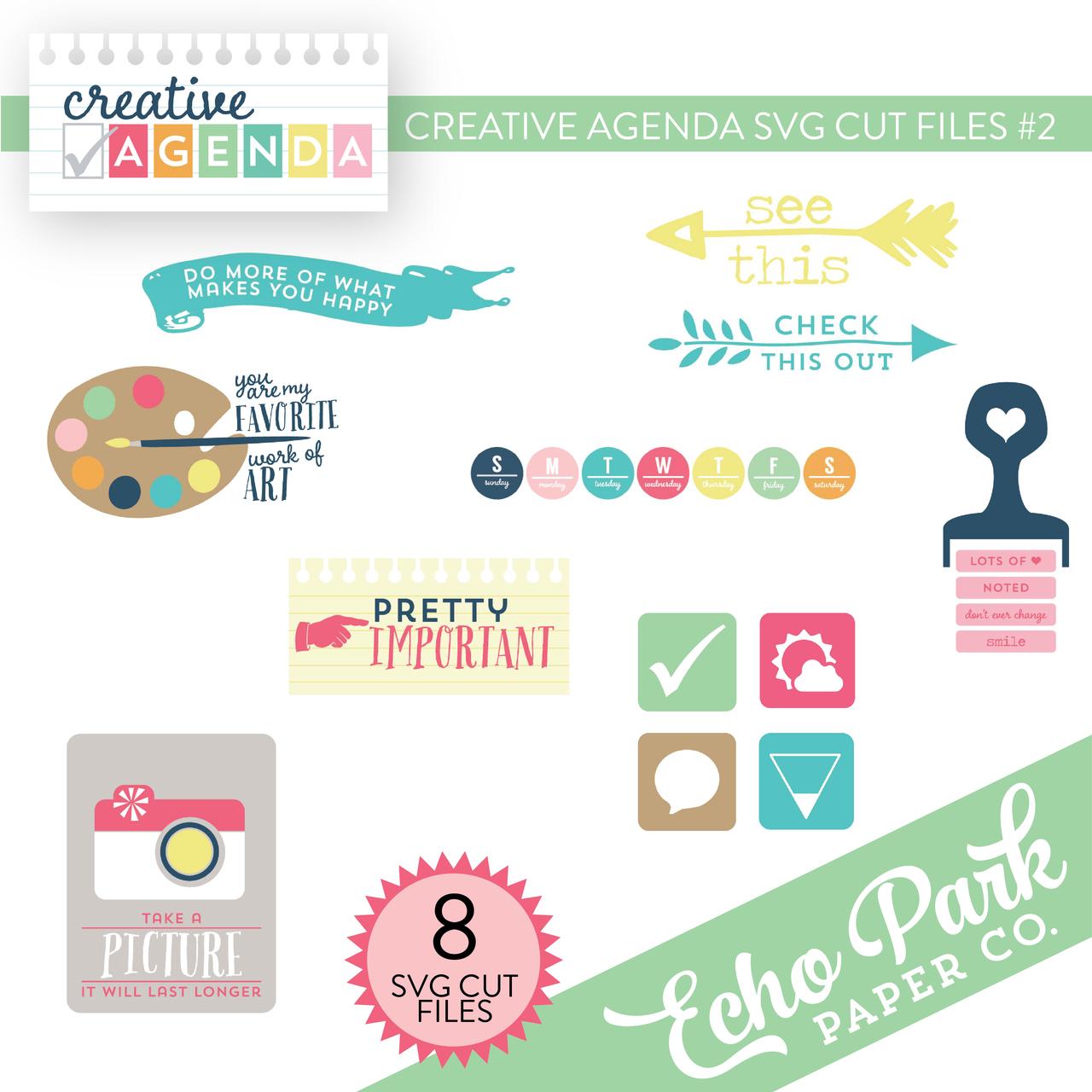 Creative Agenda SVG Cut Files #2