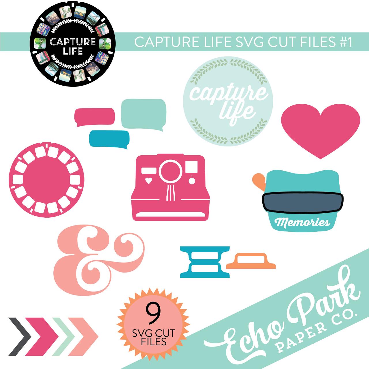 Capture Life SVG Cut Files #1
