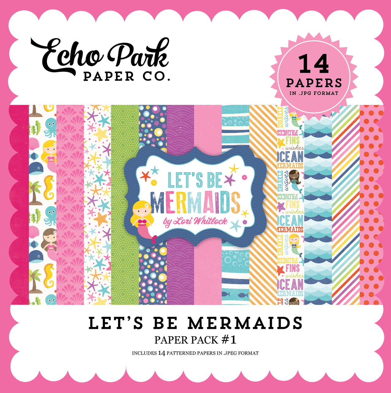 Let's Be Mermaid Paper Pack #1