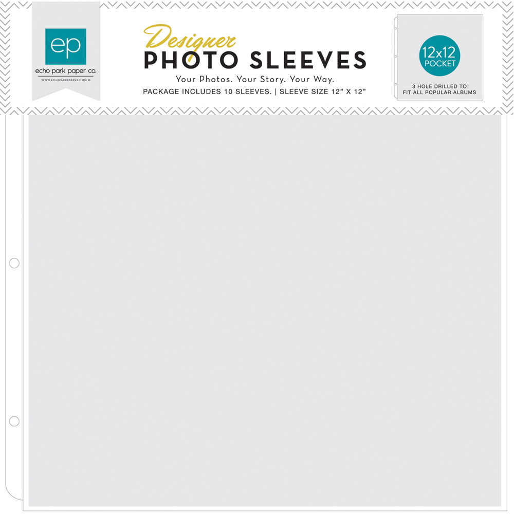 12x12 Page Protectors Made For All 3-Ring Albums 50-Pack