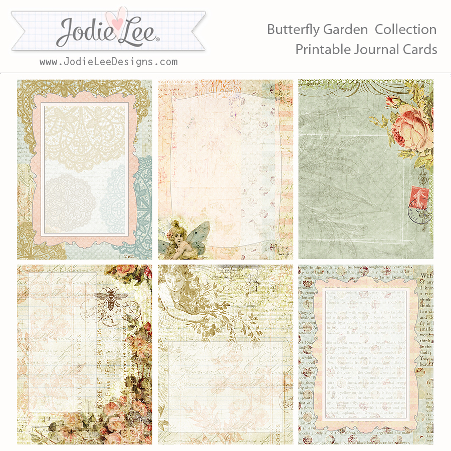 photograph about Printable Garden Journal titled Butterfly Back garden Pocket Magazine Playing cards in direction of Obtain and Print