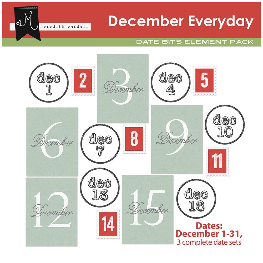 December Everyday Element Pack