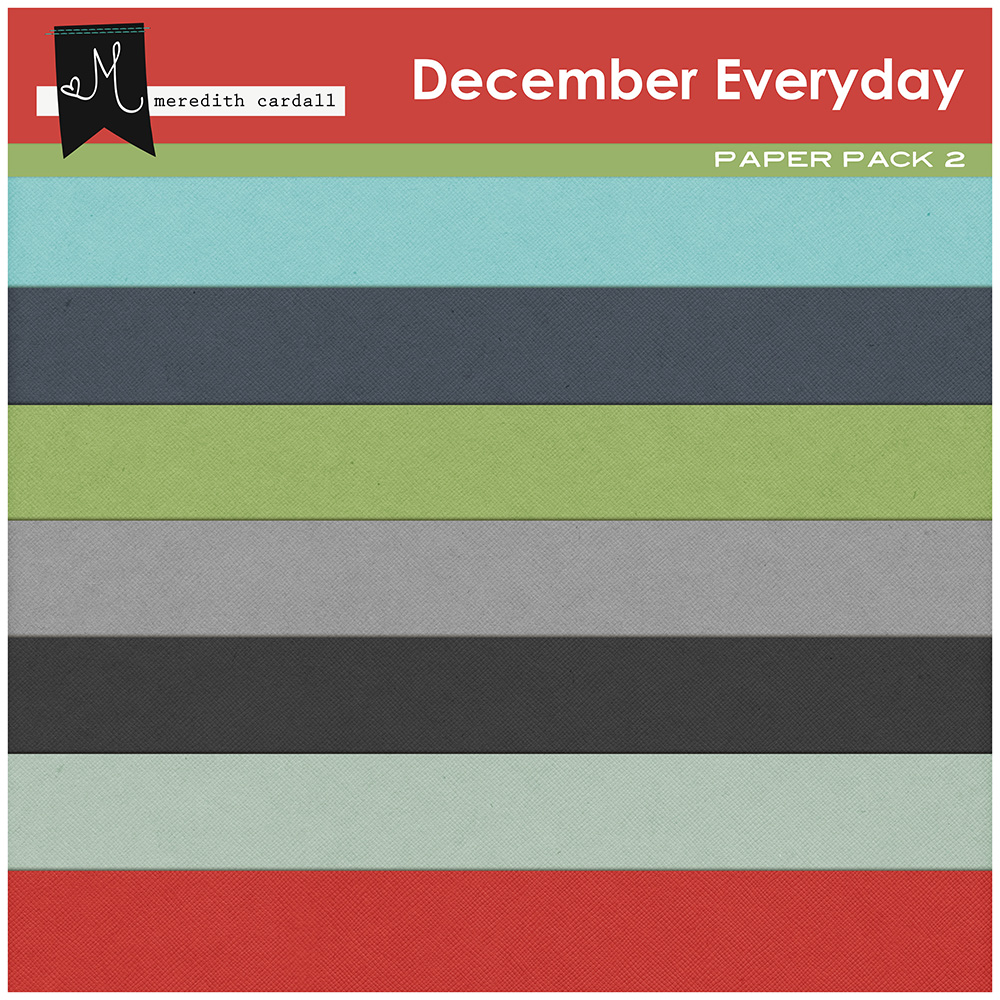 December Everyday Paper Pack 2