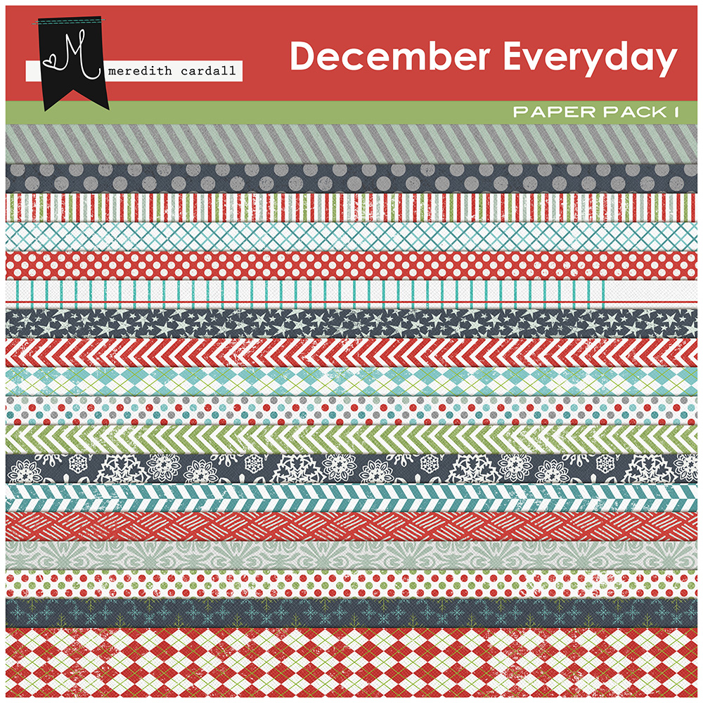 December Everyday Paper Pack 1