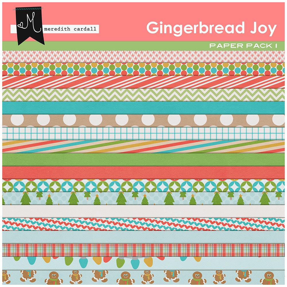 Gingerbread Joy Papers
