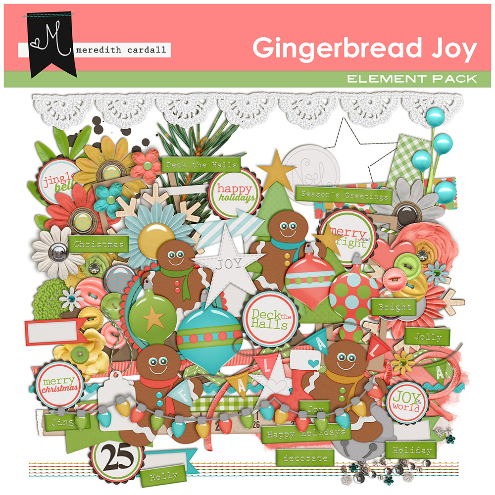 Gingerbread Joy Elements