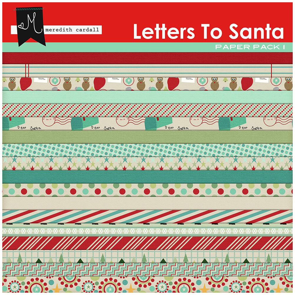 Letters to Santa Paper Pack
