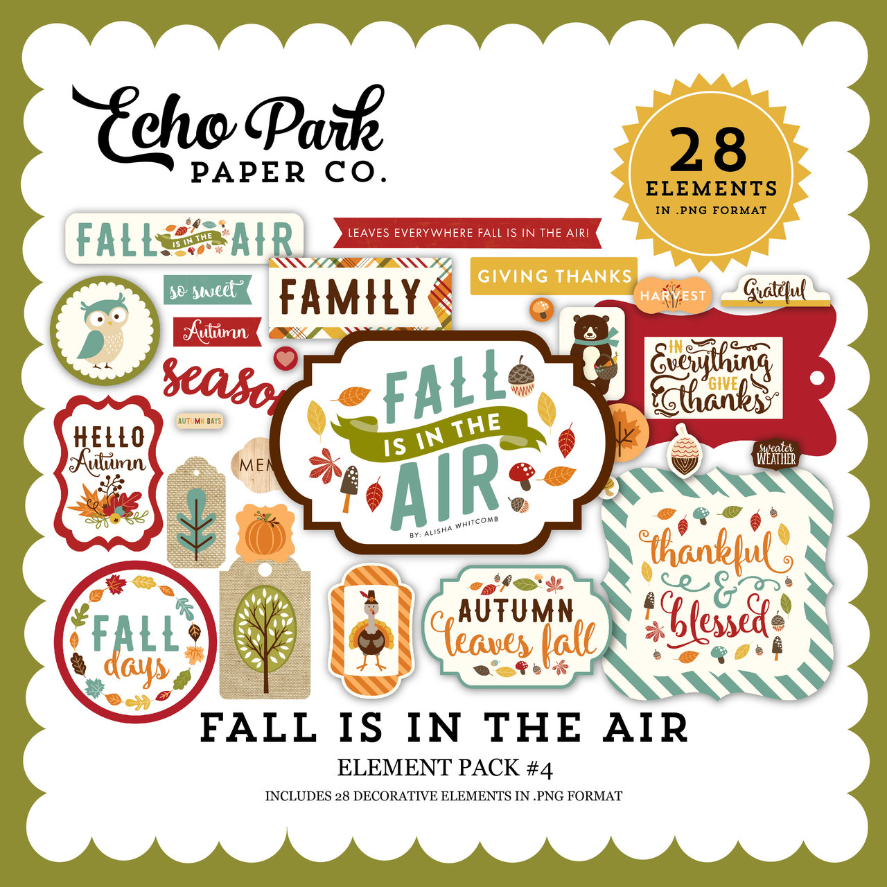 Fall is in the Air Element Pack 4