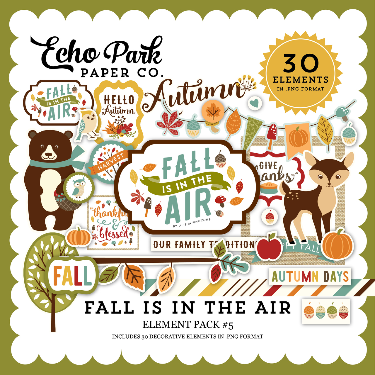 Fall is in the Air Element Pack 5