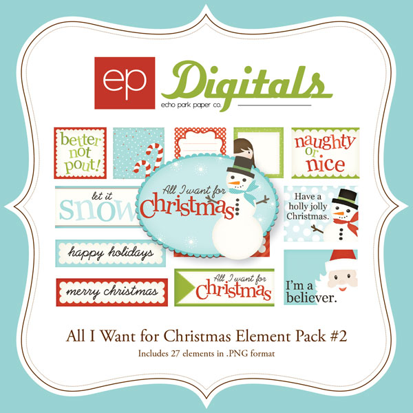All I Want for Christmas Element Pack #2