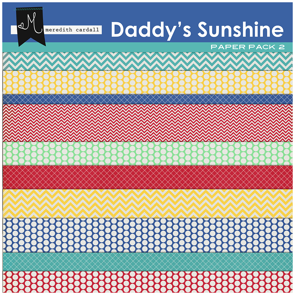 Daddy's Sunshine Paper Pack 2