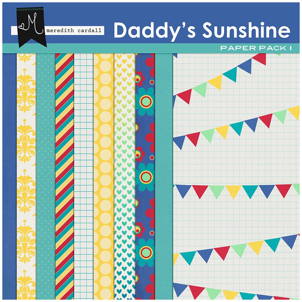 Daddy's Sunshine Paper Pack 1