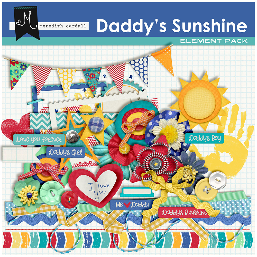 Daddy's Sunshine Element Pack