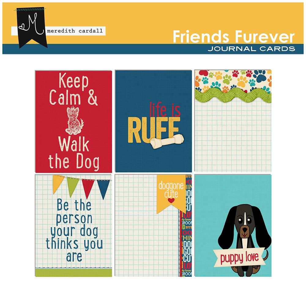 Friends Furever Journal Card Pack