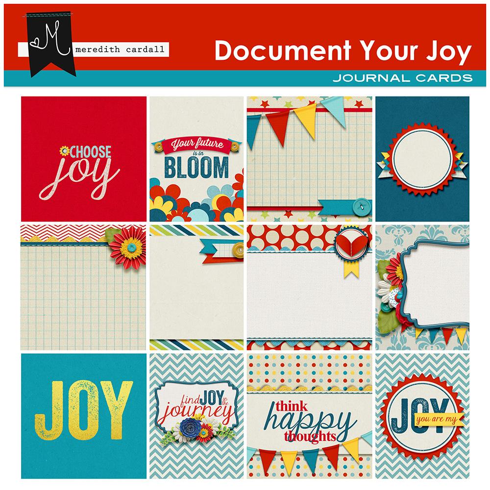 Document Your Joy Journal Cards