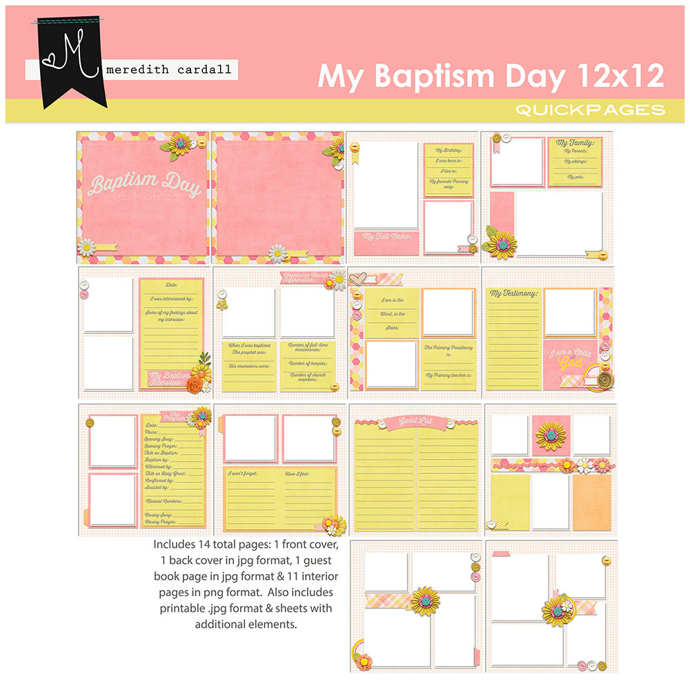 My Baptism Day Album 12x12