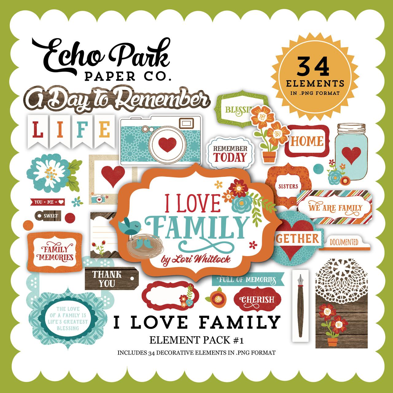 I Love Family Element Pack 1