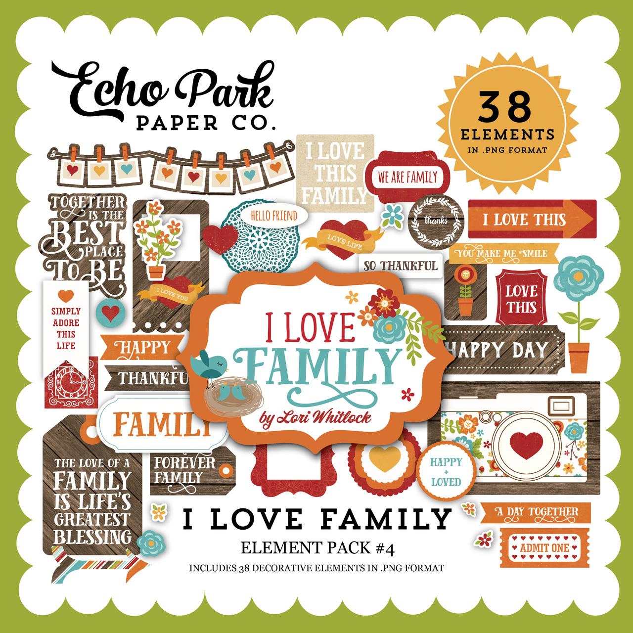 I Love Family Element Pack 4
