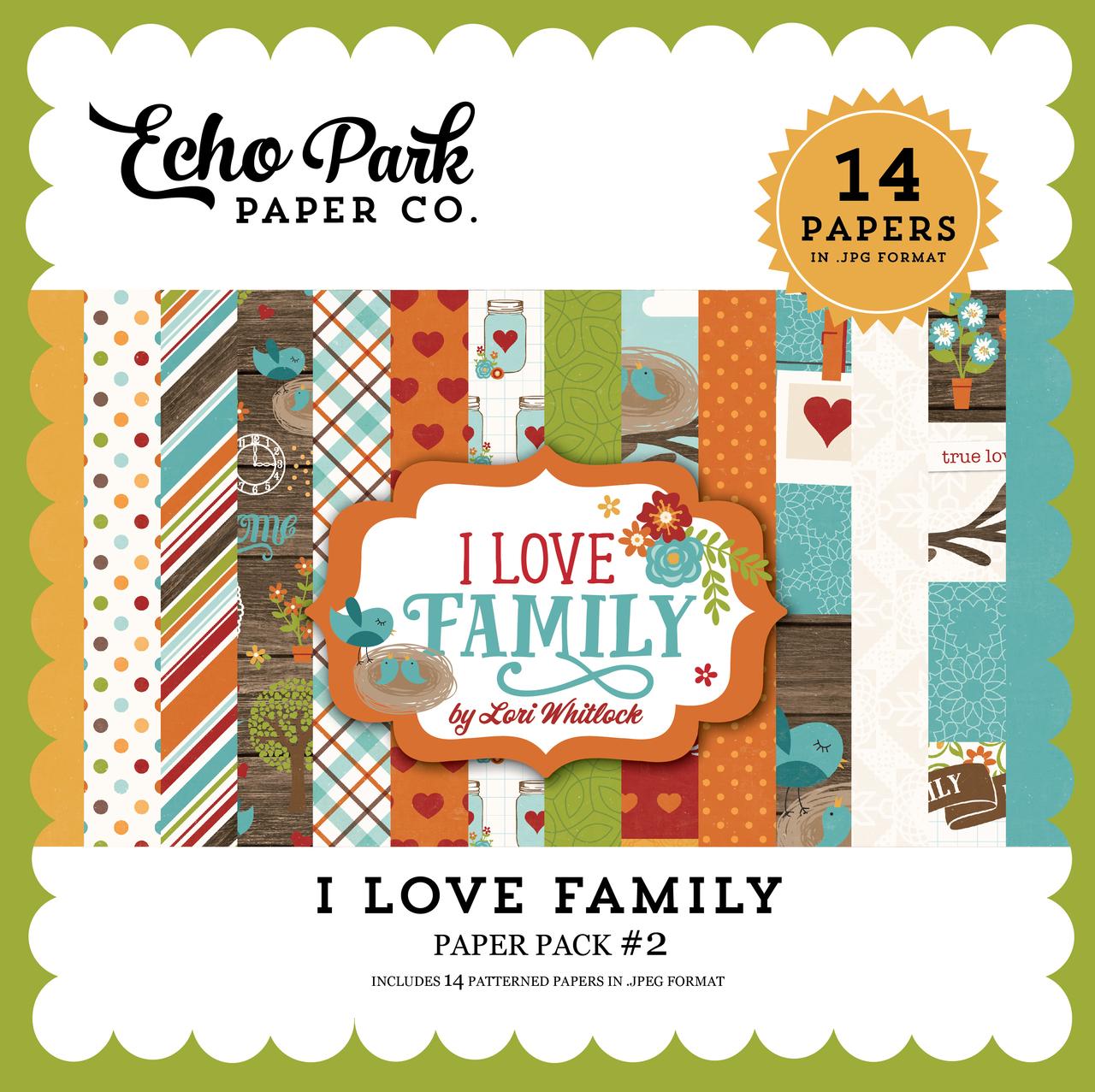 I Love Family Paper Pack 2