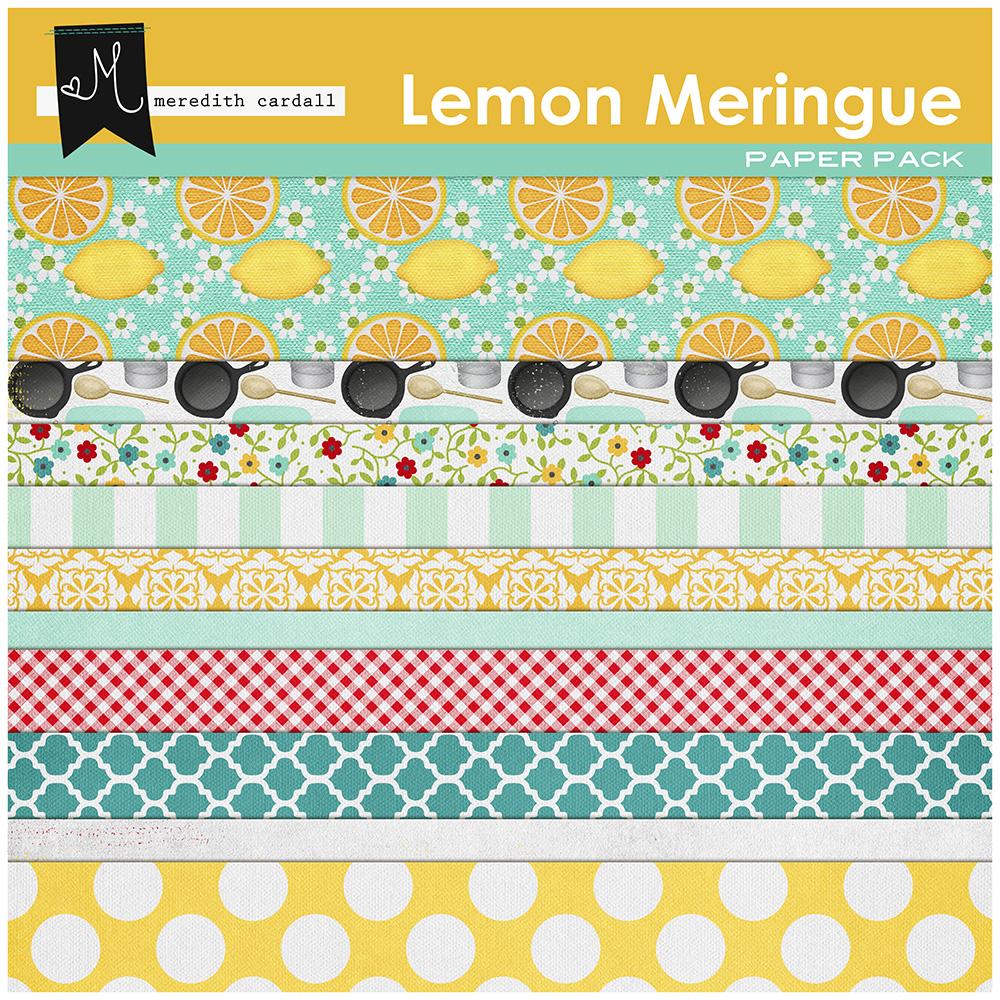Lemon Meringue Paper Pack