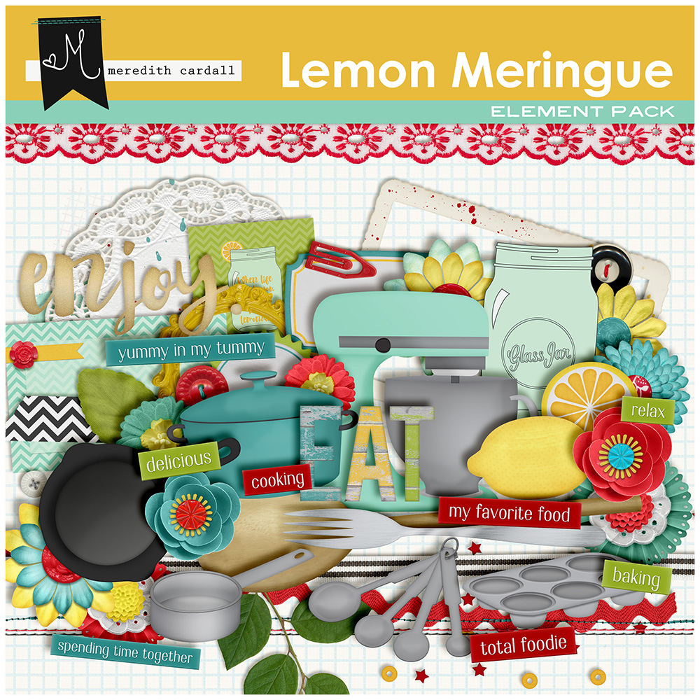 Lemon Meringue Element Pack