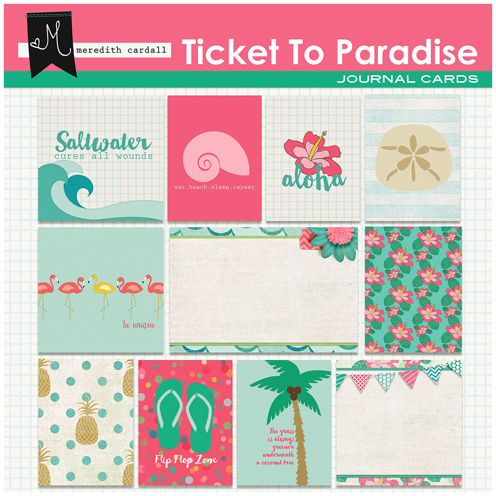 Ticket to Paradise Journal Cards