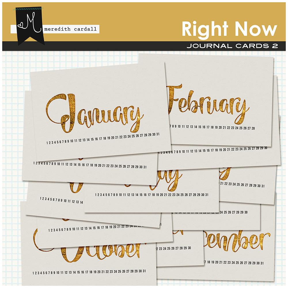 Right Now Calendar Cards