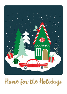 Home for the Holidays Art Print - 5x7