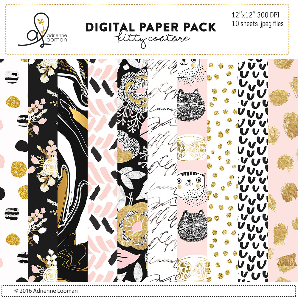Kitty Couture paper pack