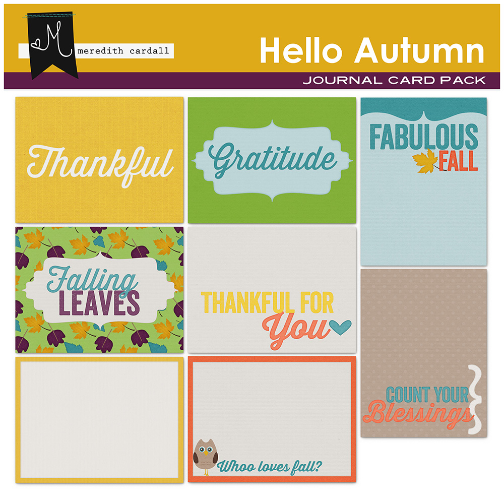 Hello Autumn Journal Cards