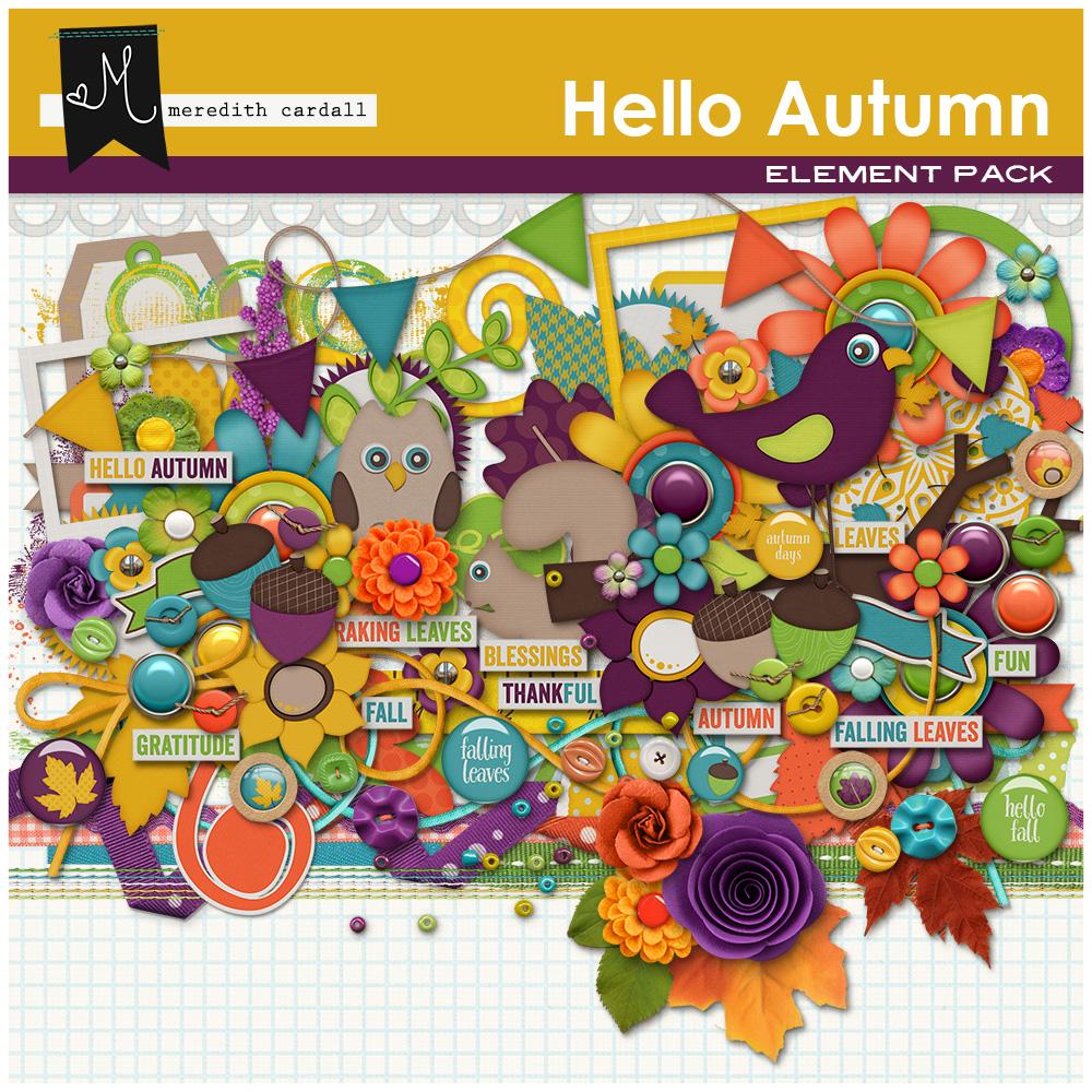 Hello Autumn Element Pack