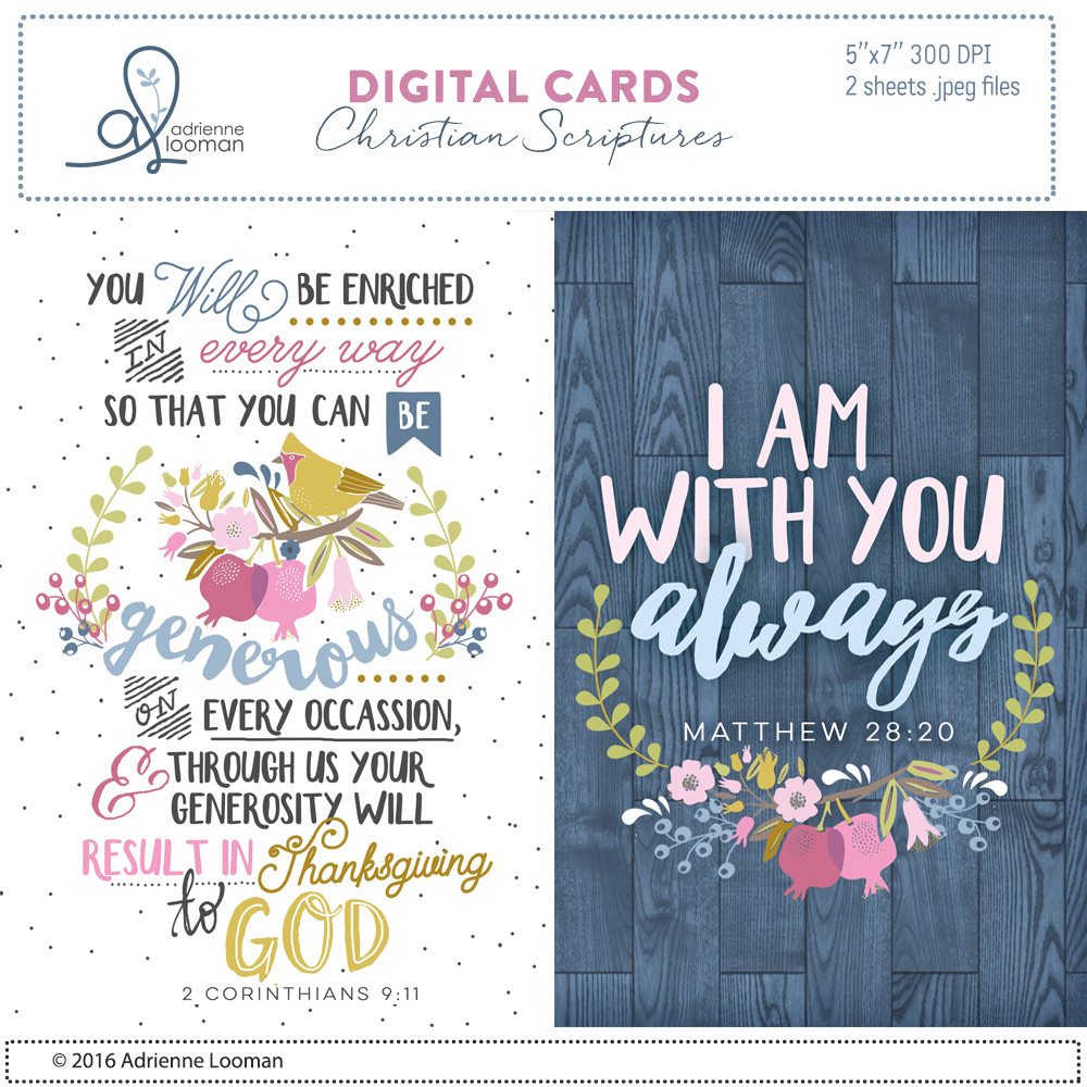 Printable 5x7 cards- scriptures 01