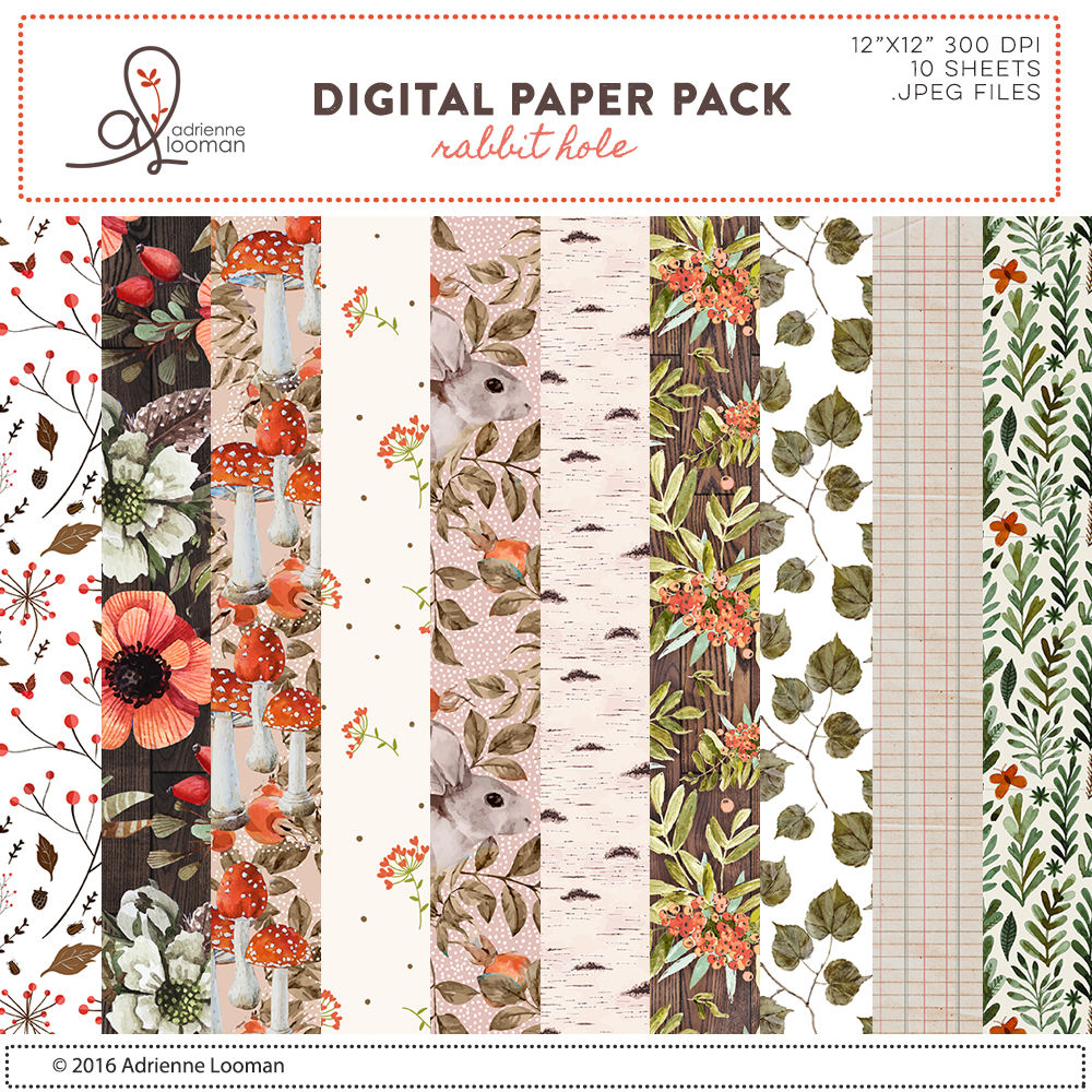 Rabbit Hole paper pack