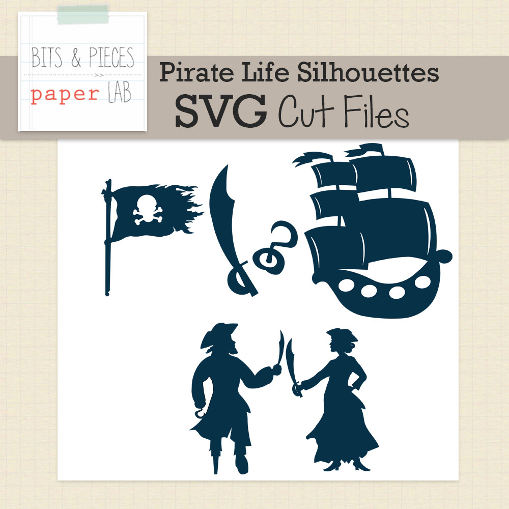 Pirate Life Silhouettes Cut Files
