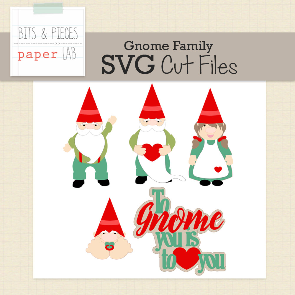 Gnome Family Cut Files