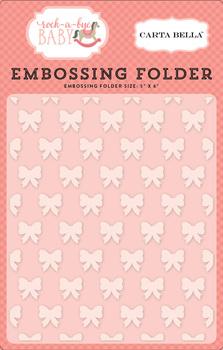 Rock-a-Bye Baby Girl Embossing Folder - Petite Bows