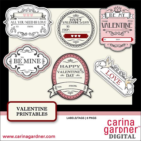 Valentines Printables - Embellishment Set