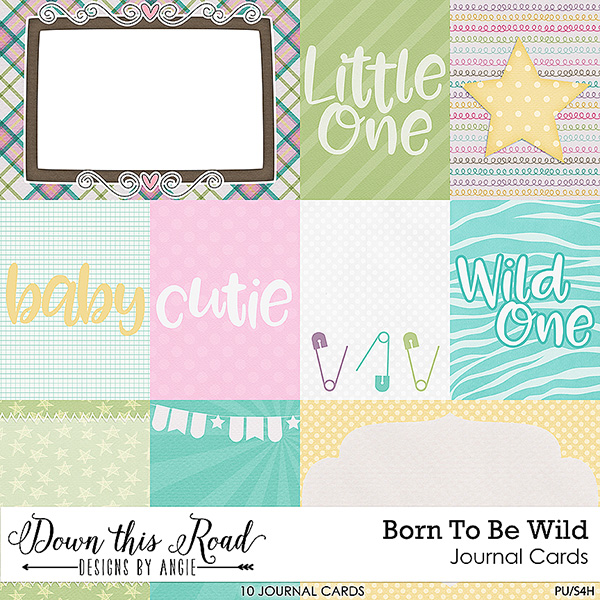 Born To Be Wild Journal Cards