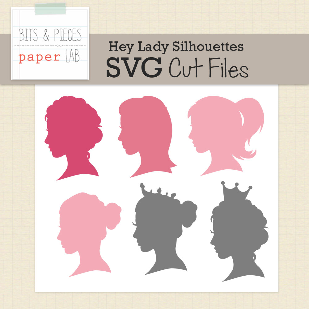 Hey Lady Silhouettes Cut Files