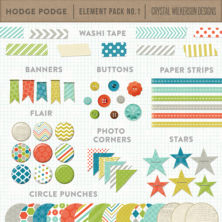 Hodge Podge - Element Pack #1