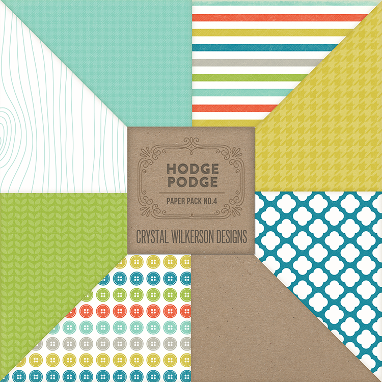 Hodge Podge - Paper Pack #4