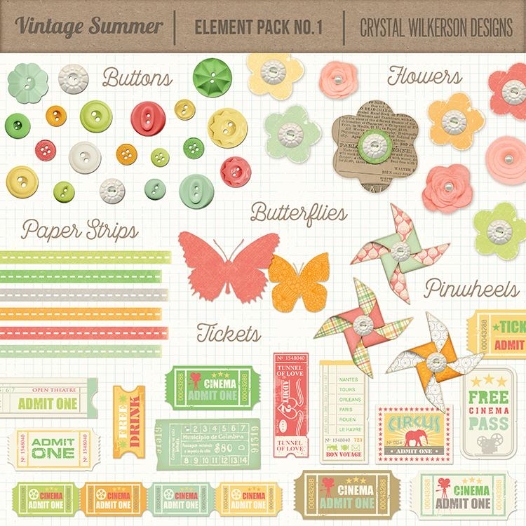 Vintage Summer - Element Pack #1
