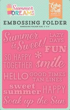 Summer Dreams Embossing Folder - Summer is Sweet