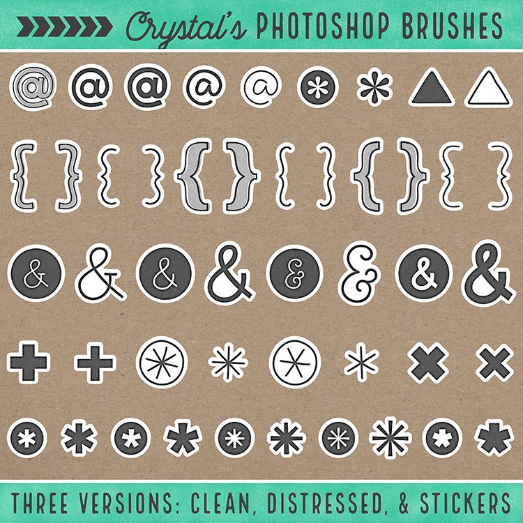 Crystal's Photoshop Brushes - Symbols