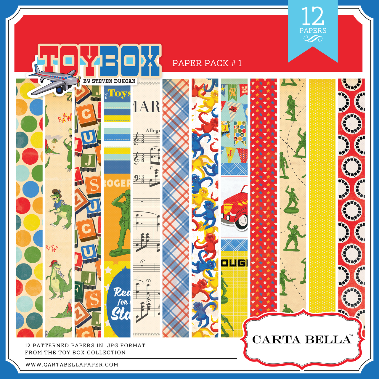 Toy Box Paper Pack #1
