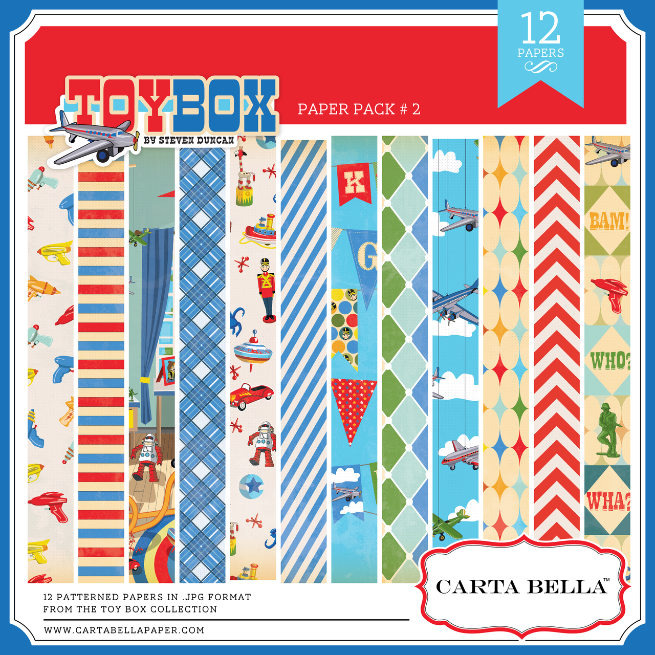 Toy Box Paper Pack #2