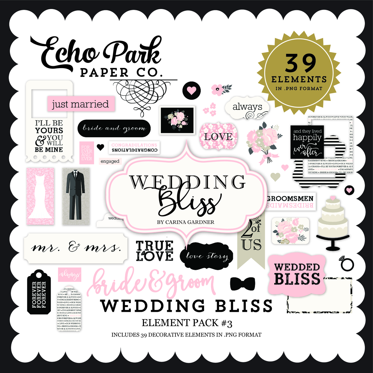Wedding Bliss Element Pack #3
